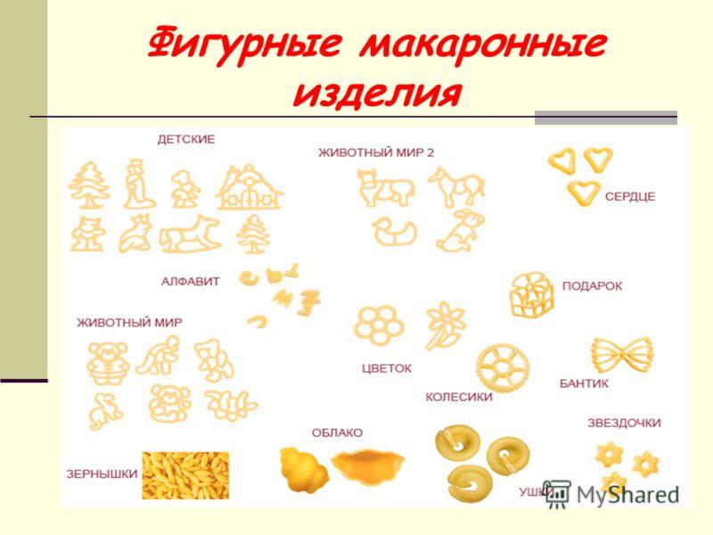 Фигурные макаронные изделия