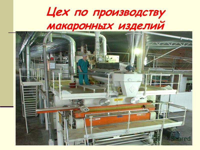 Цех по производству макаронных изделий