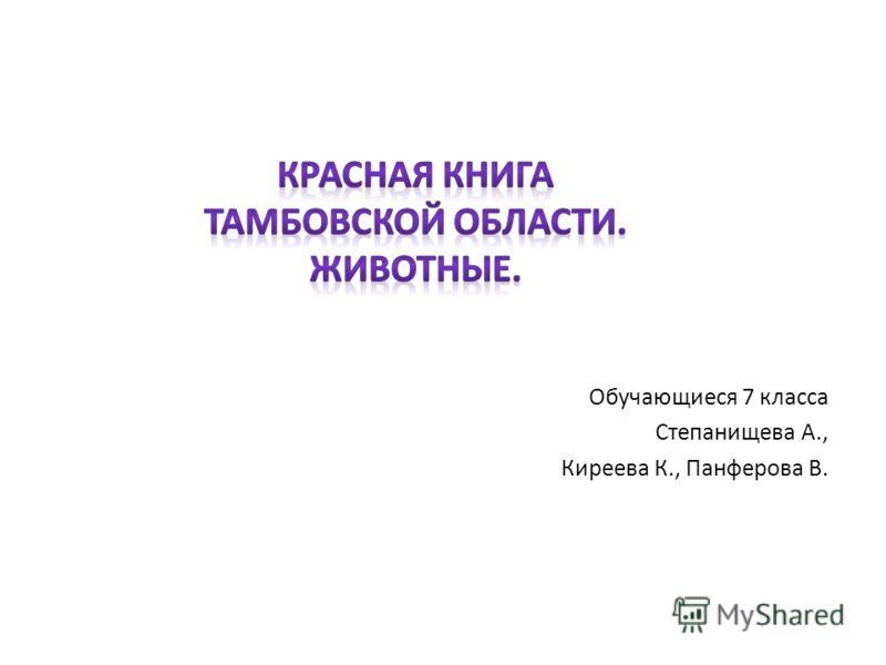 Обучающиеся 7 класса Степанищева А., Киреева К., Панферова В.