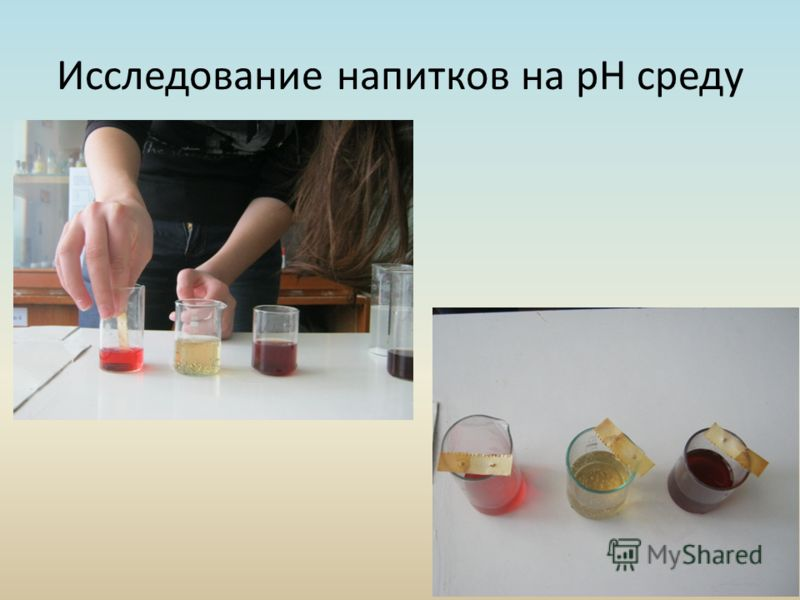 Исследование напитков на pH среду