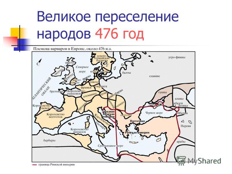 Великое переселение народов 476 год