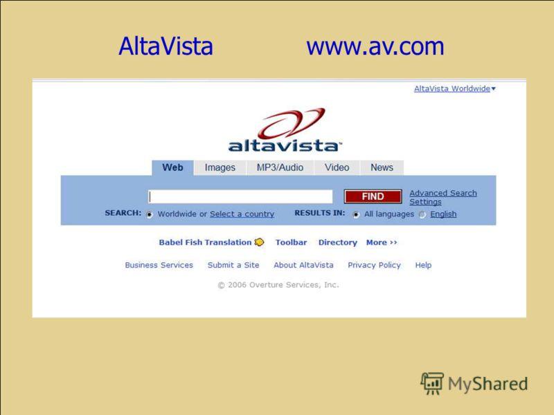 AltaVista www.av.com