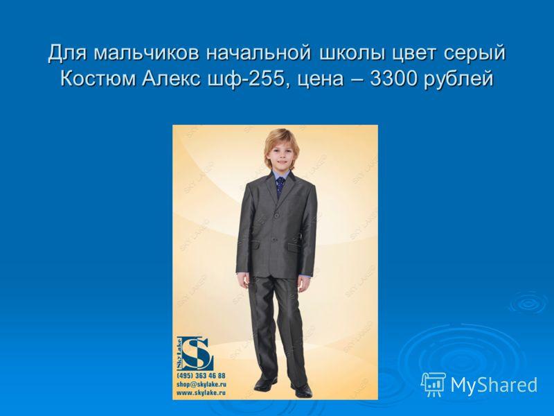 Для мальчиков начальной школы цвет серый Костюм Алекс шф-255, цена – 3300 рублей