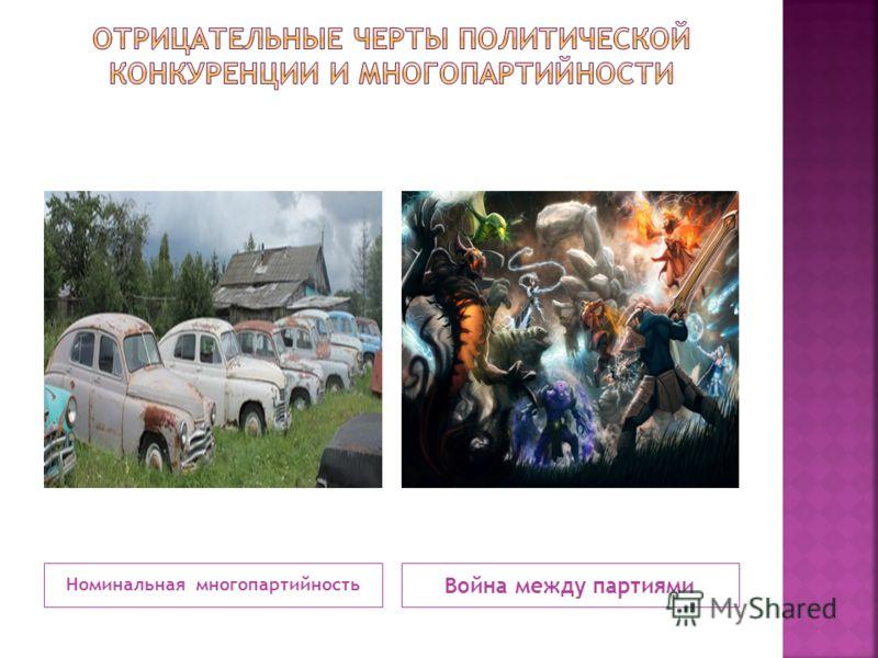 Номинальная многопартийность Война между партиями