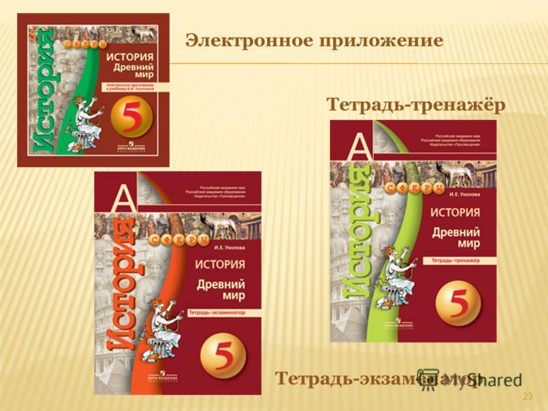 Тетрадь-тренажёр 23 Электронное приложение Тетрадь-экзаменатор