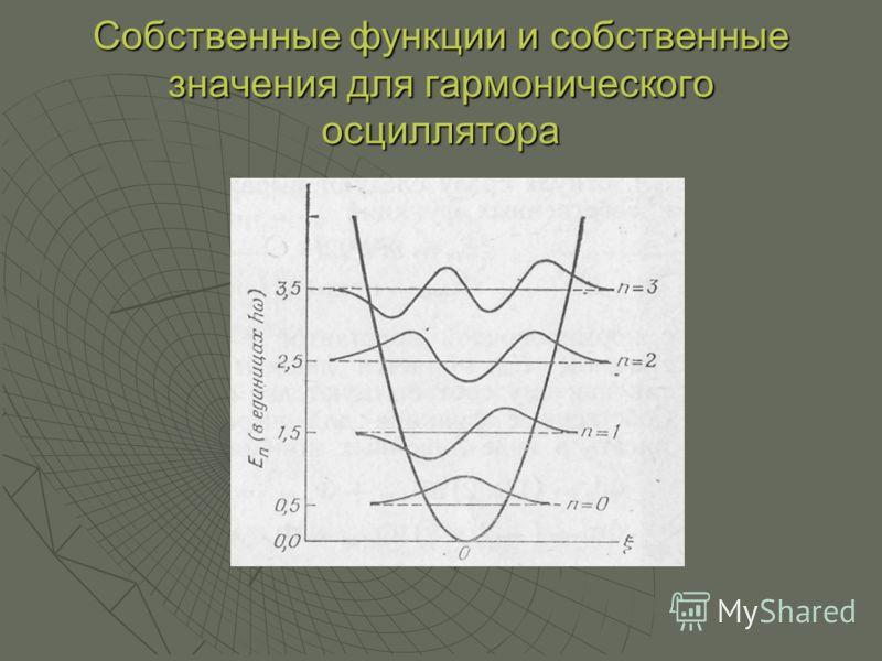 Собственные функции и собственные значения для гармонического осциллятора
