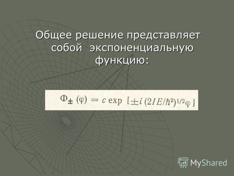 Общее решение представляет собой экспоненциальную функцию: