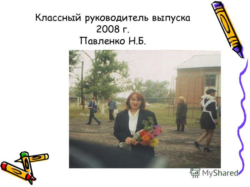 Классный руководитель выпуска 2008 г. Павленко Н.Б.