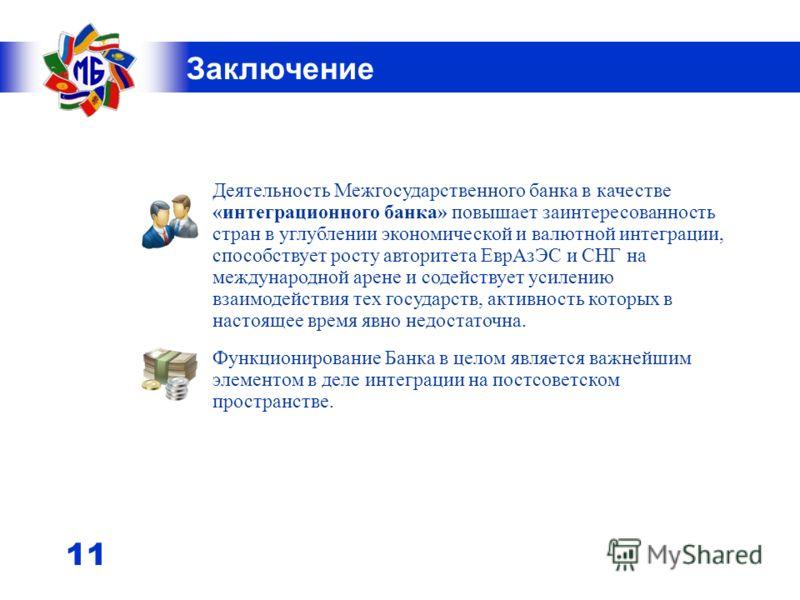 10 (эквивалент в млн.рублей РФ) Платежно-расчетная система (в млн. единиц национальной валюты) Количество проведенных транзакций по корреспондентским счетам 9 мес. 2010 года Всего18134 Российские рубли14447 Белорусские рубли3213 Армянские драмы34 Каз