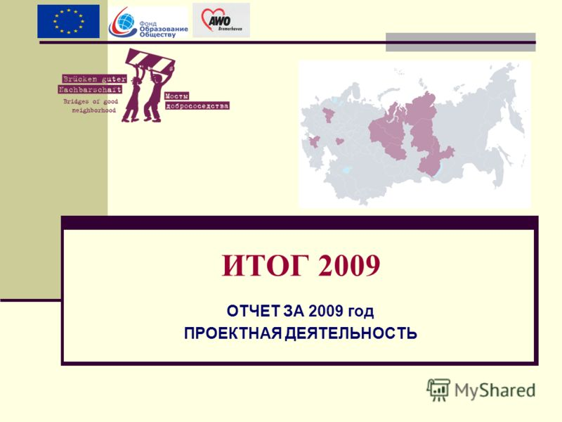 ОТЧЕТ ЗА 2009 год ПРОЕКТНАЯ ДЕЯТЕЛЬНОСТЬ ИТОГ 2009