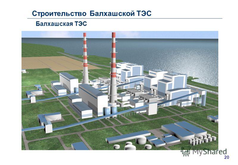 Строительство Балхашской ТЭС Балхашская ТЭС 20
