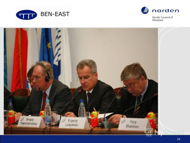 Nordic Council of Ministers 22 -