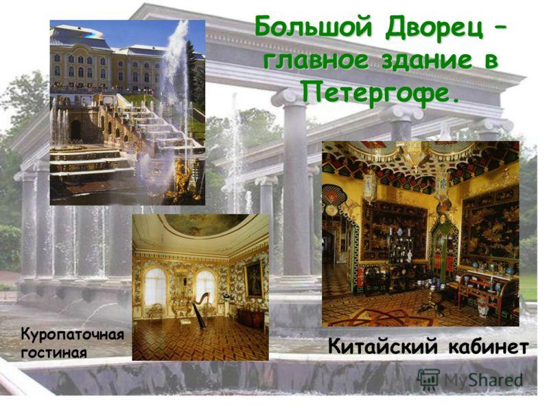 Большой Дворец – главное здание в Петергофе. Куропаточная гостиная Китайский кабинет