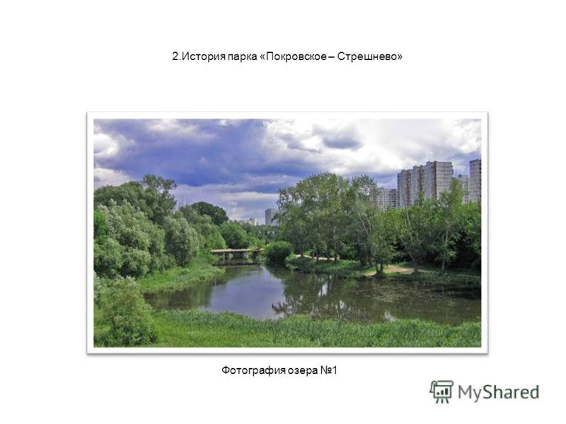 2.История парка «Покровское – Стрешнево» Фотография озера 1
