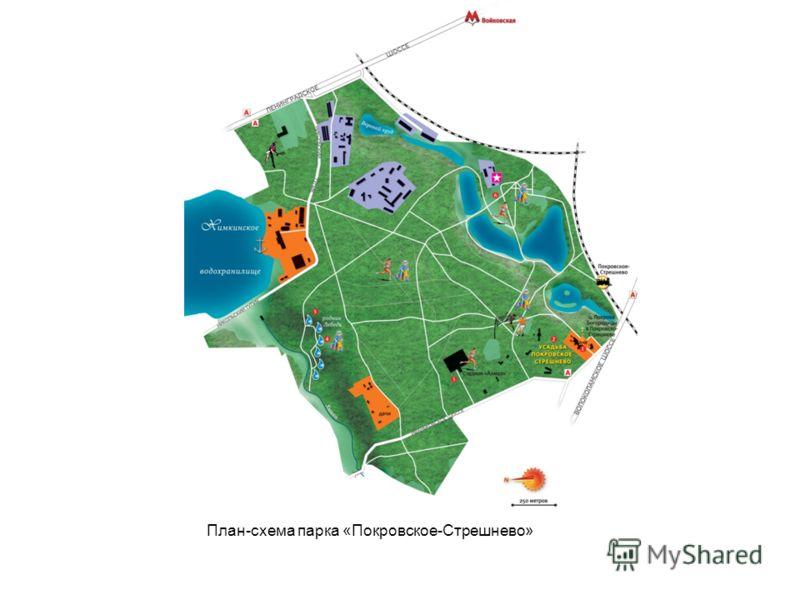 План-схема парка «Покровское-Стрешнево»