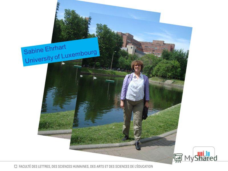 Sabine Ehrhart University of Luxembourg
