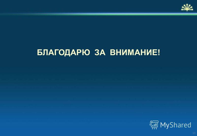 БЛАГОДАРЮ ЗА ВНИМАНИЕ! 13