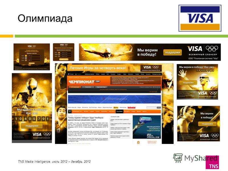 Олимпиада TNS Media Intelligence, июль 2012 – декабрь 2012