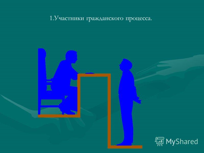 1.Участники гражданского процесса.