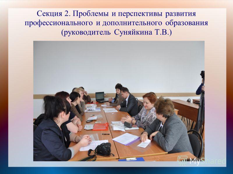 Секция 2. Проблемы и перспективы развития профессионального и дополнительного образования (руководитель Суняйкина Т.В.)