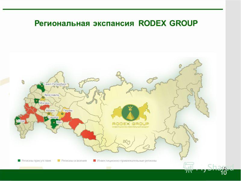 10 Региональная экспансия RODEX GROUP