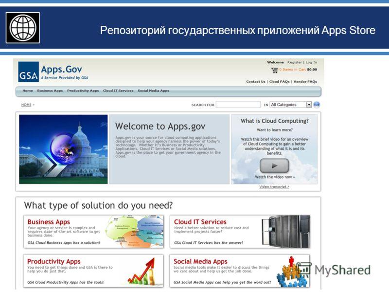 Репозиторий государственных приложений Apps Store