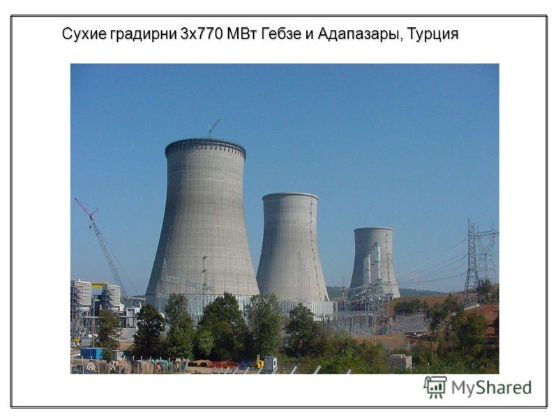 Сухие градирни 3х770 МВт Гебзе и Адапазары, Турция