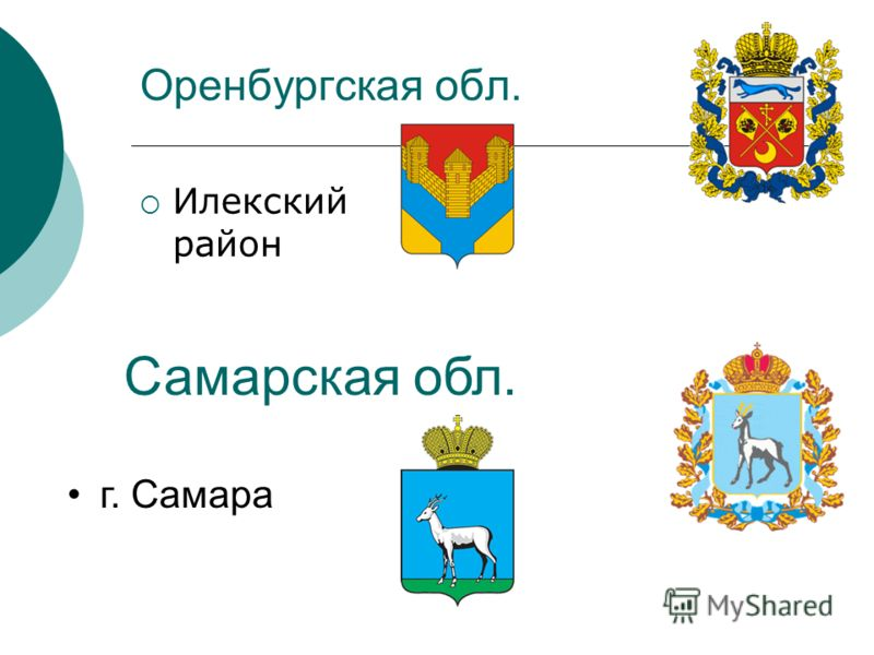 Оренбургская обл. Илекский район Самарская обл. г. Самара