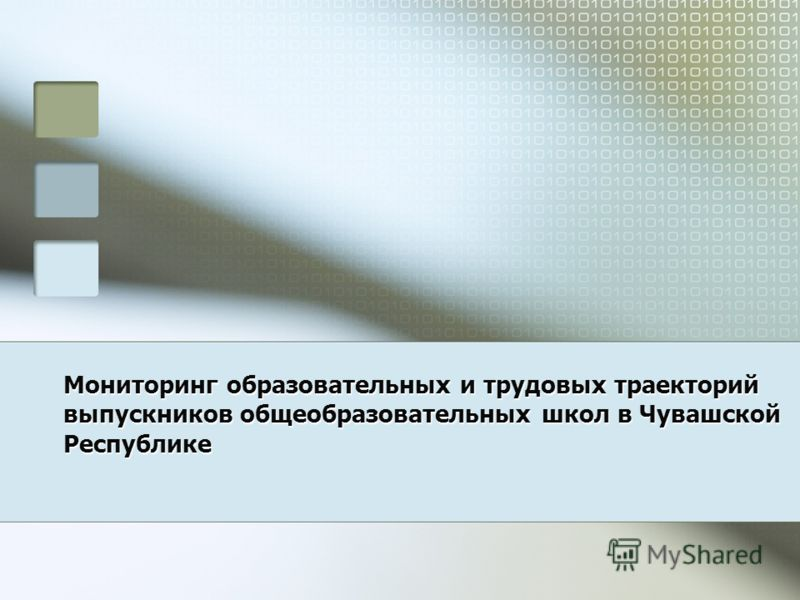 Мониторинг образовательных и трудовых траекторий выпускников общеобразовательных школ в Чувашской Республике