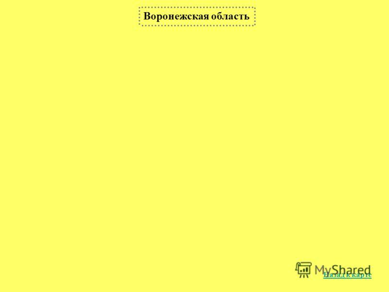 Воронежская область Назад к карте