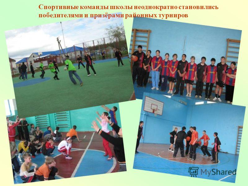 Спортивные команды школы неоднократно становились победителями и призёрами районных турниров