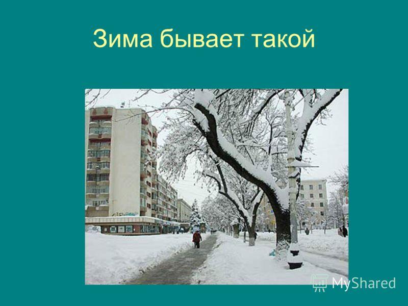 Зима бывает такой