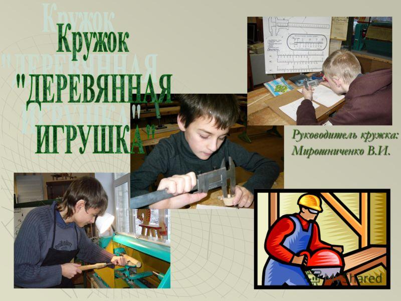Руководитель кружка: Мирошниченко В.И.