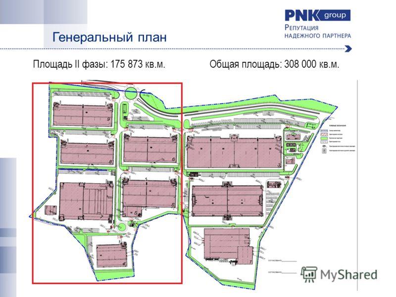 Генеральный план Площадь II фазы: 175 873 кв.м. Общая площадь: 308 000 кв.м.