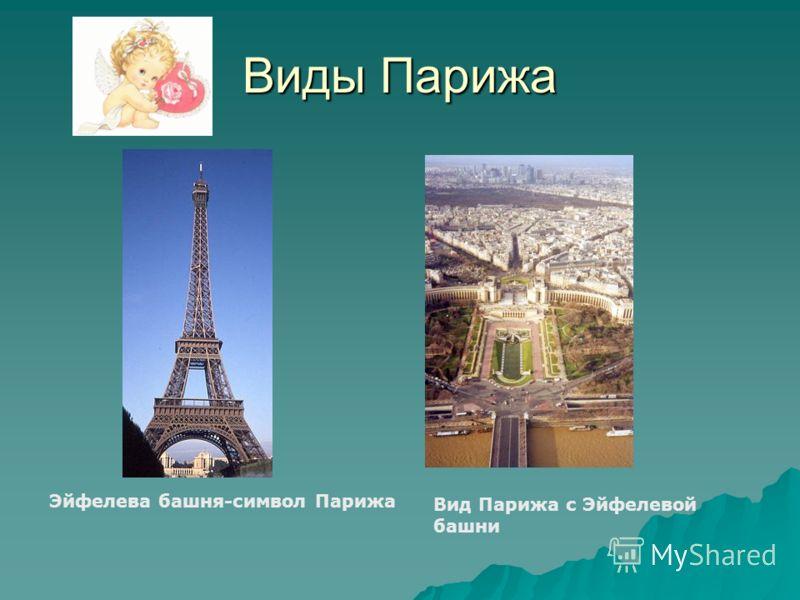 Виды Парижа Эйфелева башня-символ Парижа Вид Парижа с Эйфелевой башни