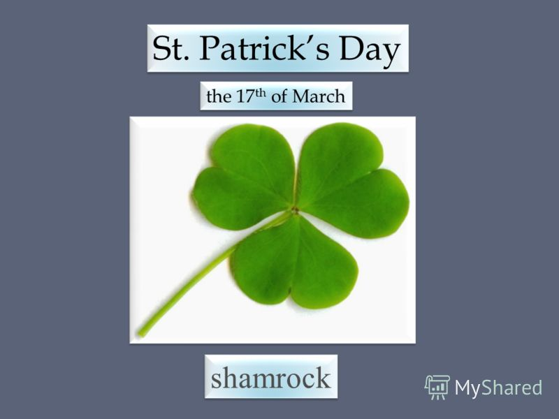shamrock St. Patricks Day the 17 th of March