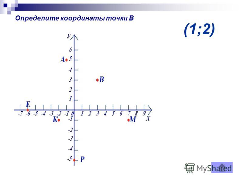 (1;2) Определите координаты точки В