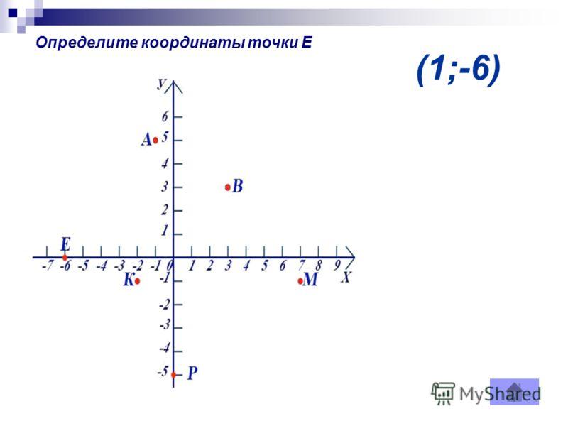 (1;-6) Определите координаты точки Е