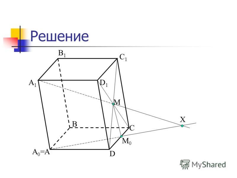 Решение С А А1А1 В В1В1 С1С1 D D1D1 М М0М0 А0=А0= Х