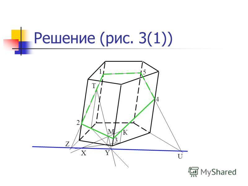 Т М К Решение (рис. 3(1)) Х Y Z 1 2 3 4 5 U