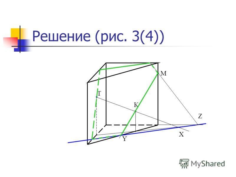 Решение (рис. 3(4)) М Т К X Y Z