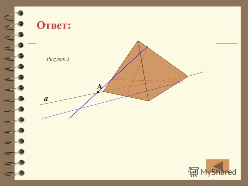 Ответ: Рисунок 1 a А