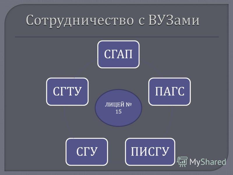СГАППАГСПИСГУСГУСГТУ ЛИЦЕЙ 15