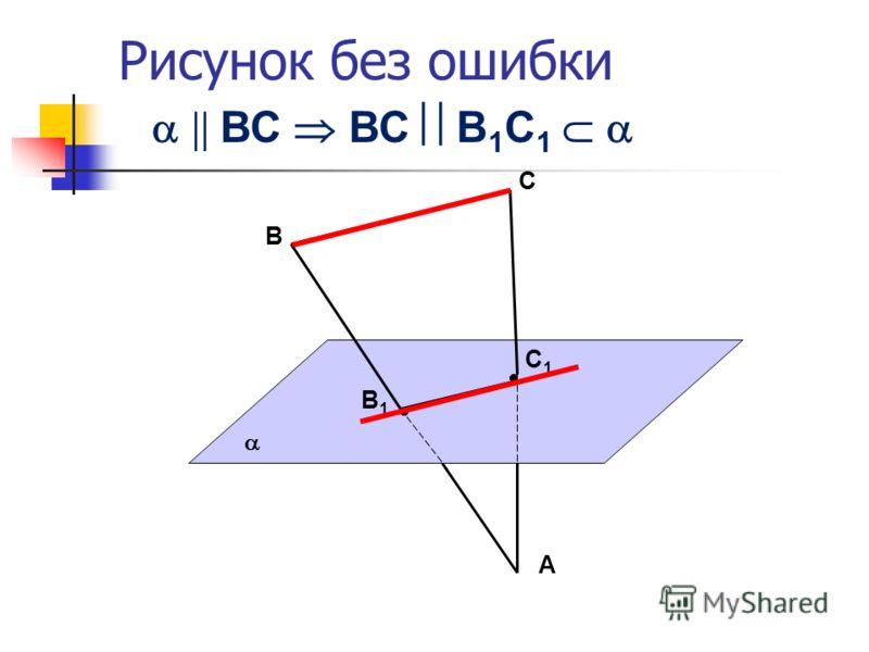 Рисунок без ошибки В В1В1 С1С1 А С ВС ВС В 1 С 1