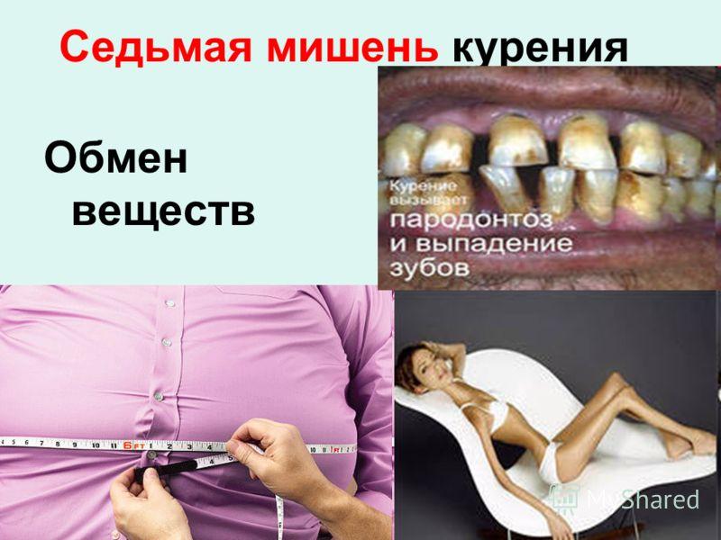 Обмен веществ Седьмая мишень курения