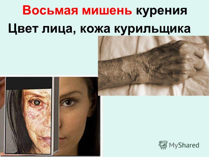 Восьмая мишень курения Цвет лица, кожа курильщика