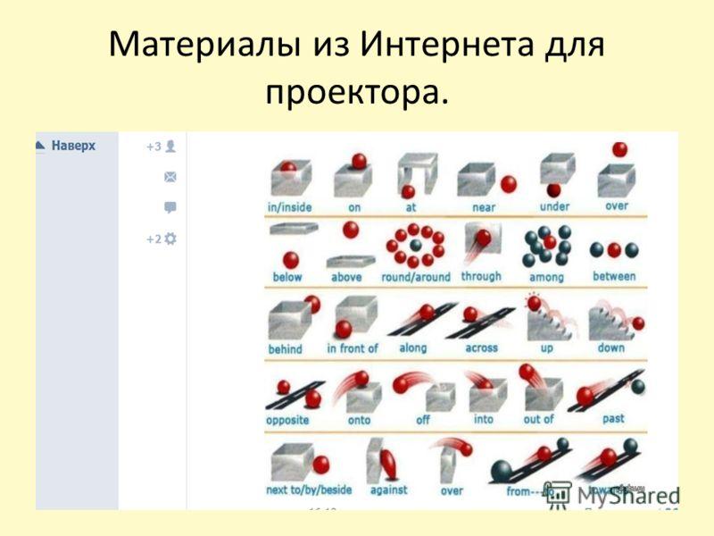Материалы из Интернета для проектора.