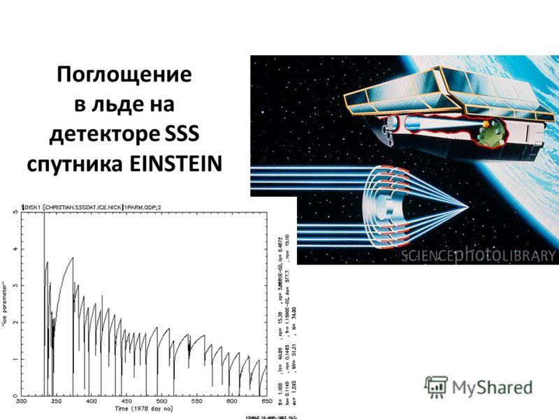 Поглощение в льде на детекторе SSS cпутника EINSTEIN