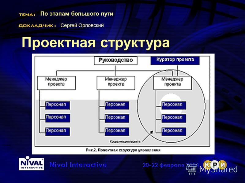 По этапам большого пути Сергей Орловский Система Проектная структура