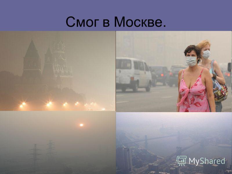 Смог в Москве.